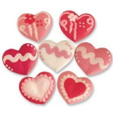 Pretty Mixed Heart Sugar Toppers